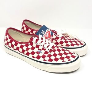 Brand New Vans Unisex Red Checkerboard Sneakers